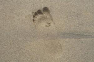 footprint-sand